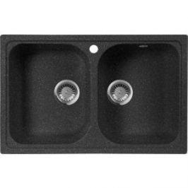 Мойка кухонная AquaGranitEx M-15 775х495 черный (M-15 308)
