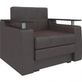 Кресло-кровать АртМебель Комфорт эко-кожа коричневый