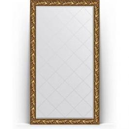 Зеркало напольное с гравировкой поворотное Evoform Exclusive-G Floor 114x203 см, в багетной раме - византия золото 99 мм (BY 6364)