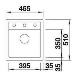 Мойка кухонная Blanco Dalago 45 темная скала (518846)