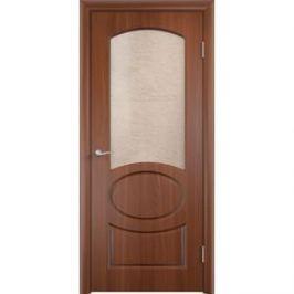 Дверь VERDA Неаполь остекленная 1900х550 ПВХ Итальянский орех