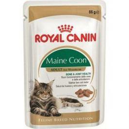 Паучи Royal Canin Maine Coon Adult кусочки в соусе для кошек породы мейн-кун 85г (542001)