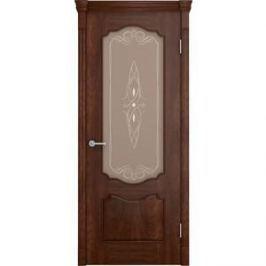 Дверь VERDA Престиж остекленная 2000х600 шпон Кофе