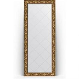 Зеркало напольное с гравировкой поворотное Evoform Exclusive-G Floor 84x203 см, в багетной раме - византия золото 99 мм (BY 6324)