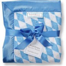 Детский плед SwaddleDesigns Stroller Blanket Bavarian Rhombus Blue(SD-B020B)