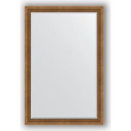 Зеркало с фацетом в багетной раме поворотное Evoform Exclusive 117x177 см, бронзовый акведук 93 мм (BY 3622)