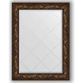 Зеркало с гравировкой поворотное Evoform Exclusive-G 79x106 см, в багетной раме - византия бронза 99 мм (BY 4201)