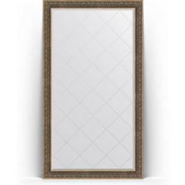Зеркало напольное с гравировкой поворотное Evoform Exclusive-G Floor 114x204 см, в багетной раме - вензель серебряный 101 мм (BY 6372)