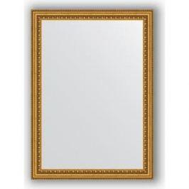 Зеркало в багетной раме поворотное Evoform Definite 52x72 см, бусы золотые 46 мм (BY 0792)