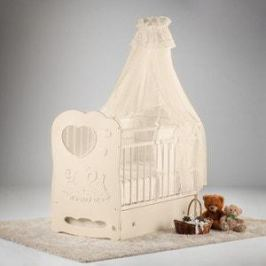 Островок уюта Кровать детская Слоненок (слоновая кость) маятник поперечный с ящиком
