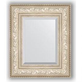 Зеркало с фацетом в багетной раме Evoform Exclusive 50x60 см, виньетка серебро 109 мм (BY 3374)