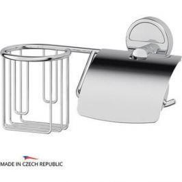 Держатель освежителя и туалетной бумаги с крышкой FBS Luxia хром (LUX 054)