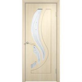 Дверь VERDA Лиана остекленная 2000х600 ПВХ Дуб белёный левая