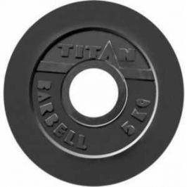 Диск обрезиненный Titan 51 мм 5 кг черный