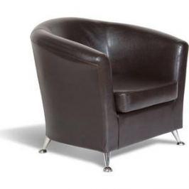 Кресло СМК Бонн 040 1х к/з Рекс 320 коричневый