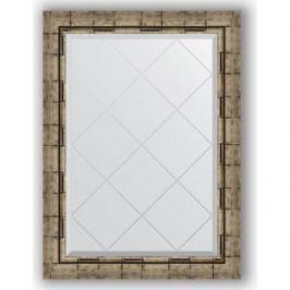 Зеркало с гравировкой поворотное Evoform Exclusive-G 63x86 см, в багетной раме - серебряный бамбук 73 мм (BY 4093)