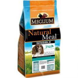 Сухой корм MEGLIUM Natural Meal Dog Adult Sensible Lamb & Rice с ягненком и рисом для взрослых собак с чувствительным пищеварением 3кг (MS1903)