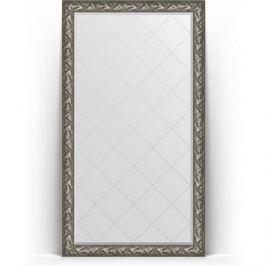 Зеркало напольное с гравировкой поворотное Evoform Exclusive-G Floor 114x203 см, в багетной раме - византия серебро 99 мм (BY 6365)
