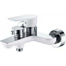 Смеситель для ванны Kaiser Atrio короткий излив, белый/хром с душем, хром (60022)