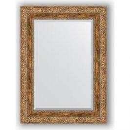 Зеркало с фацетом в багетной раме поворотное Evoform Exclusive 55x75 см, виньетка античная бронза 85 мм (BY 3384)