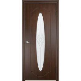 Дверь VERDA Орбита остекленная 2000х600 ПВХ Венге