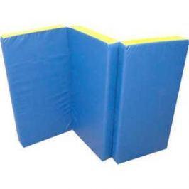Мат КМС номер 4 (100 х 150 х 10) складной сине-жёлтый