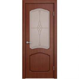 Дверь VERDA Каролина остекленная 2000х600 шпон Макоре