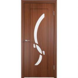 Дверь VERDA Милена остекленная 2000х800 ПВХ Итальянский орех левая
