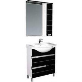 Комплект мебели Aquanet Доминика 60 цвет бел (фасад черный)