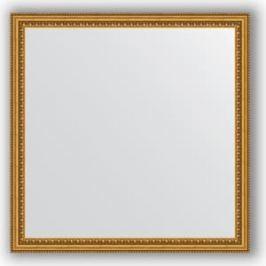 Зеркало в багетной раме Evoform Definite 72x72 см, бусы золотые 46 мм (BY 1022)
