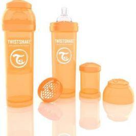 Twistshake Антиколиковая бутылочка для кормления 330 мл. Оранжевая (780015)