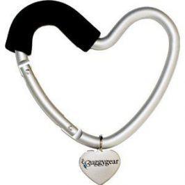 Крепление для сумок Buggygear (Багги Гир) Сердечко silver/black