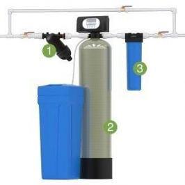 Установка для обезжелезивания и умягчения воды Гейзер WS1054/WS1CI (Экотар В) с автоматической промывкой по расходу