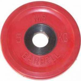 Диск обрезиненный MB Barbell 51 мм 5 кг красный