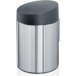 Ведро для мусора с крышкой 5 л Brabantia Slide Bin (397127) полированная сталь