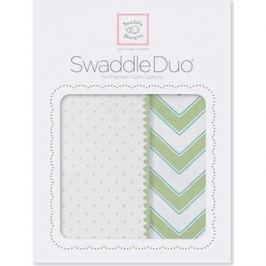 Набор пеленок SwaddleDesigns Swaddle Duo KW Classic Chevron (SD-484KW)