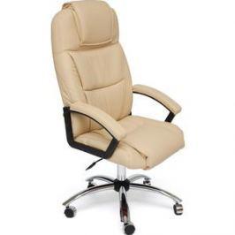 Кресло TetChair BERGAMO (хром) кож/зам бежевый 36-34