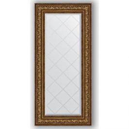 Зеркало с гравировкой поворотное Evoform Exclusive-G 60x130 см, в багетной раме - виньетка состаренная бронза 109 мм (BY 4083)