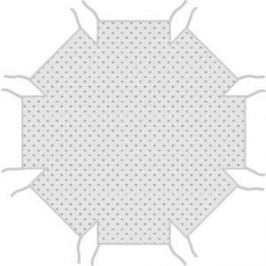 Матрас Combelle Комфорт для манежа Florian восьмиугольник, Серый 3874