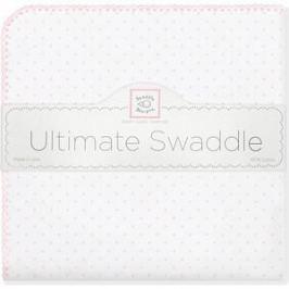 Фланелевая пеленка SwaddleDesigns для новорожденного Pstl Pink Dot (SD-001PP)