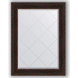 Зеркало с гравировкой поворотное Evoform Exclusive-G 79x106 см, в багетной раме - темный прованс 99 мм (BY 4205)
