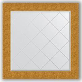 Зеркало с гравировкой Evoform Exclusive-G 86x86 см, в багетной раме - чеканка золотая 90 мм (BY 4323)
