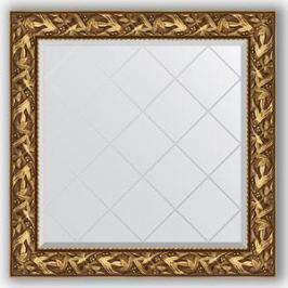 Зеркало с гравировкой Evoform Exclusive-G 89x89 см, в багетной раме - византия золото 99 мм (BY 4328)