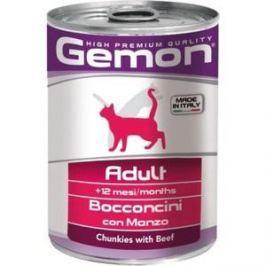 Консервы Gemon Cat Adult Chunkies with Beef с говядиной кусочки для взрослых кошек 415г