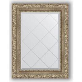 Зеркало с гравировкой поворотное Evoform Exclusive-G 55x72 см, в багетной раме - виньетка античное серебро 85 мм (BY 4014)