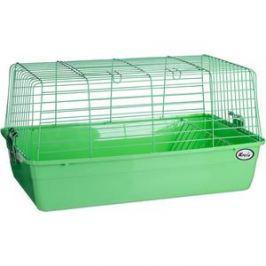 Клетка KREDO R1 из окрашенной проволоки с кормушкой для сена в подарочной упаковке для кроликов