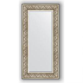 Зеркало с фацетом в багетной раме поворотное Evoform Exclusive 60x120 см, барокко серебро 106 мм (BY 3502)