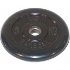 Диск обрезиненный MB Barbell 26мм 5кг черный