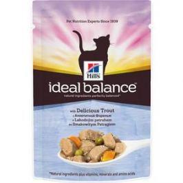 Паучи Hill's Ideal Balance with Delicious Trout с аппетитной форелью и овощами для кошек 82г (10026)