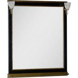 Зеркало Aquanet Валенса 100 черный краколет/золото (180294)